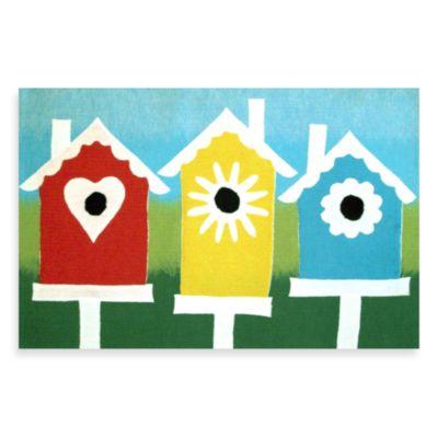 Liora Manne Birdhouses Door Mat