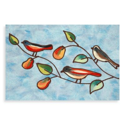 Liora Manne Songbirds Door Mat in Blue