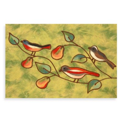 Liora Manne Songbirds Doormat in Green
