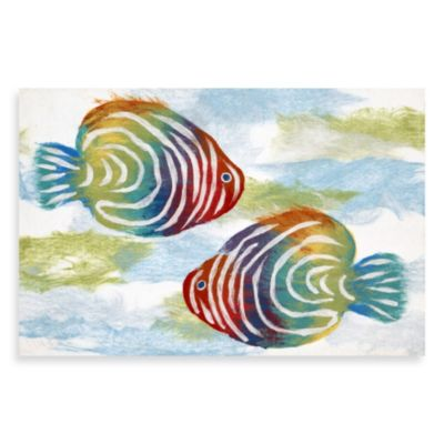 Liora Manne Rainbow Fish Door Mat