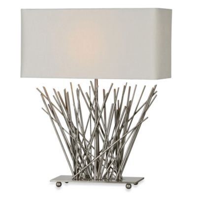 Ren-Wil Hera Stick Satin Nickel Table Lamp