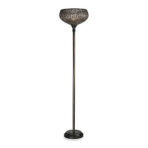 Buy magnolia torchiere bronze floor lamp from bed bath for Torchiere floor lamp bed bath and beyond