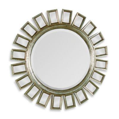 Ren-Wil Carmine 34-Inch Round Mirror