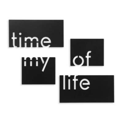 Time of My Life Plaque (Set of 4)