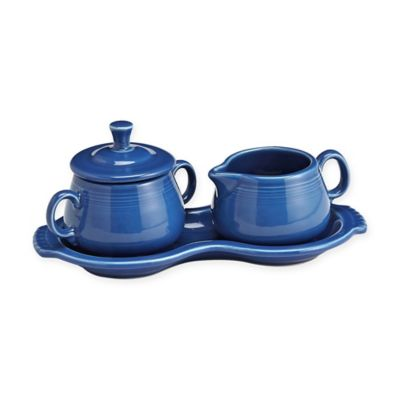 Fiesta® Sugar Bowl and Creamer Tray Set in Lapis
