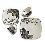 Kenneth Cole Reaction Home Etched Floral Grey Square Dinnerware Collection