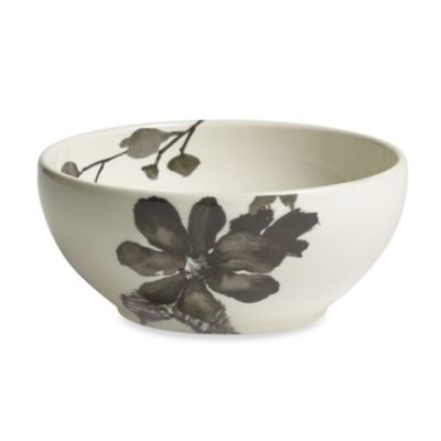 Kenneth Cole Reaction® Home Etched Floral Grey 6-Inch Bowl
