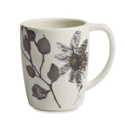 Kenneth Cole Reaction® Home Etched Floral Grey Mug