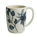 Kenneth Cole Reaction Home Etched Floral Blue Mug