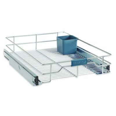 Real Simple® Sliding Under-Cabinet 17-Inch Organizer in Chrome