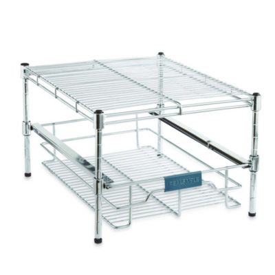 Real Simple Sliding Under-Cabinet 13.5-Inch Organizer in Chrome