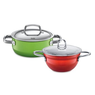WMF Silit Ceramic 2.5-Quart Covered Low Casserole in Green/Yellow