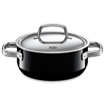 WMF Silit Ceramic 2.5-Quart Covered Low Casserole in Black