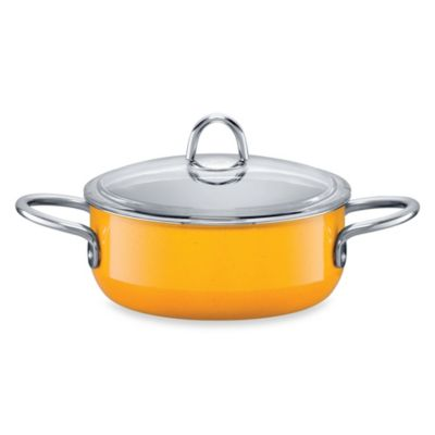 WMF Silit Ceramic 2.5-Quart Covered Low Casserole in Yellow