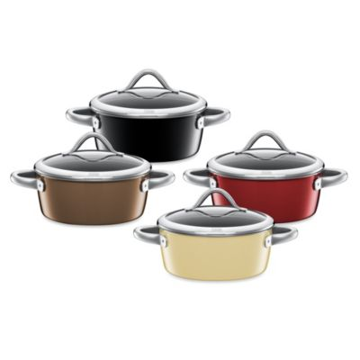 WMF Silit Ceramic 3.5-Quart Covered Low Casserole in Burgundy