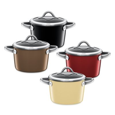 WMF Silit Ceramic 3-Quart Covered High Casserole in Burgundy