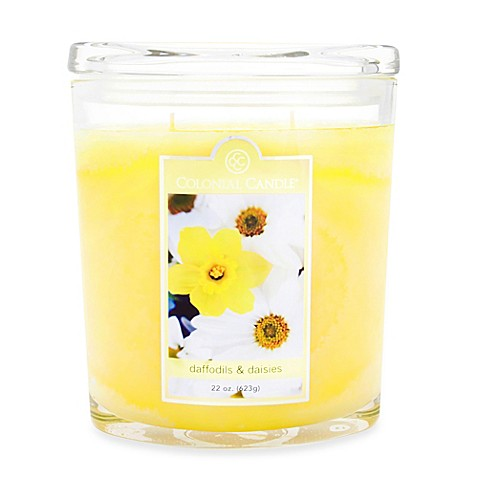 Colonial Candle® Daffodils & Daisies Large 22-Ounce Oval Jar Scented Candle