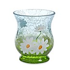 Yankee Candle® Daisy Crackle Hurricane Votive Holder