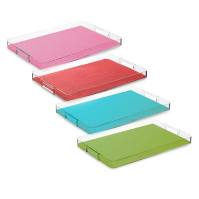 Kraftware™ Fishnet Serving Tray in Hunter Green