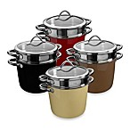 WMF Silit Ceramic Covered Pasta Pots with Stainless Steel Insert