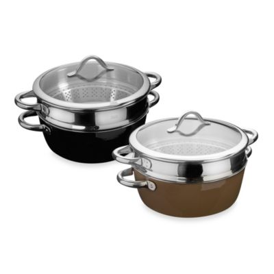WMF Silit 6.5-Quart Steamer with Insert in Black