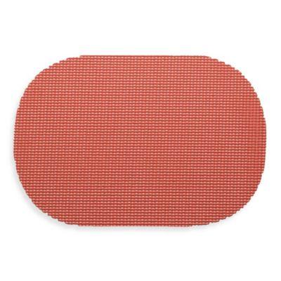 Kraftware™ Fishnet Oval Placemats in Brick (Set of 12)