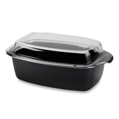 WMF Silit 5.5-Quart Gourmet Covered Roasting Pan in Black