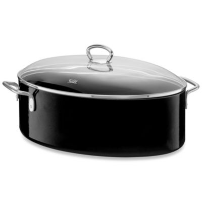 WMF Silit Ceramic 8.5-Quart Covered Oval Roaster in Black