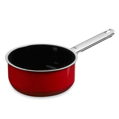 WMF Silit Ceramic 1.5-Quart Saucepan in Red