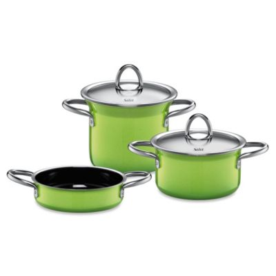 WMF Silit Ceramic 5-Piece Mini-Max Cookware Set in Green/Yellow