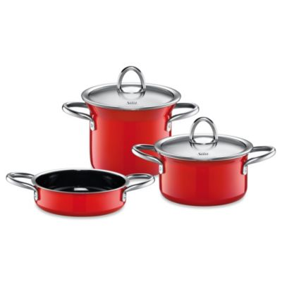WMF Silit Ceramic 5-Piece Mini-Max Cookware Set in Red