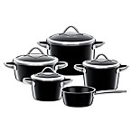 WMF Silit Ceramic 9-Piece Vitaliano Cookware Set in Black
