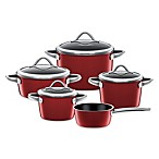 WMF Silit Ceramic 9-Piece Vitaliano Cookware Set in Burgundy