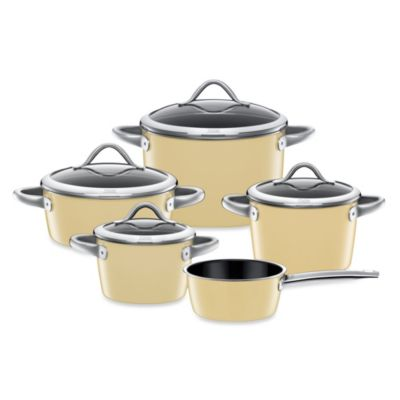 WMF Silit Ceramic 9-Piece Vitaliano Cookware Set in Cream