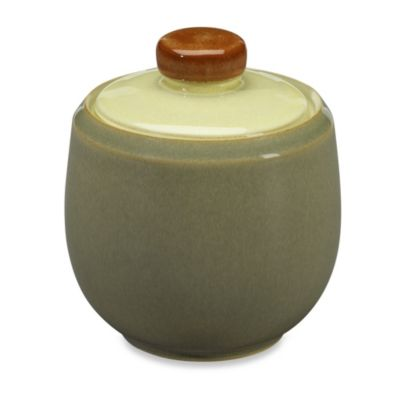Denby Fire Sugar Bowl in Cream/Sage