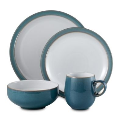 Denby Azure 4-Piece Dinnerware Place Setting