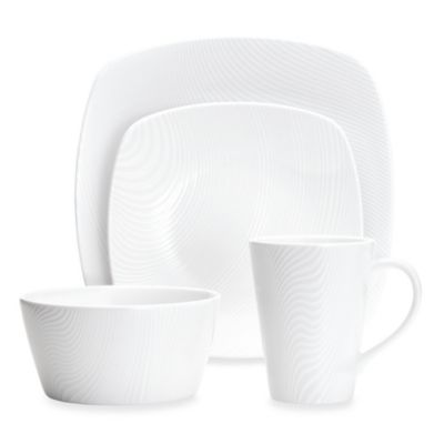 Noritake® White on White Dune 4-Piece Square Place Setting