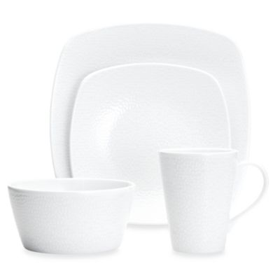 Noritake® WoW Snow 4-Piece Square Place Setting