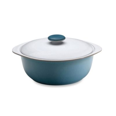 Denby Azure 2.3-Quart Covered Casserole Dish