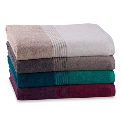 Kas Solid Bath Towels in Plum