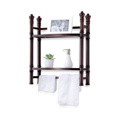 Monaco No Tools Small Wall Unit Étagère in Oil Rubbed Bronze