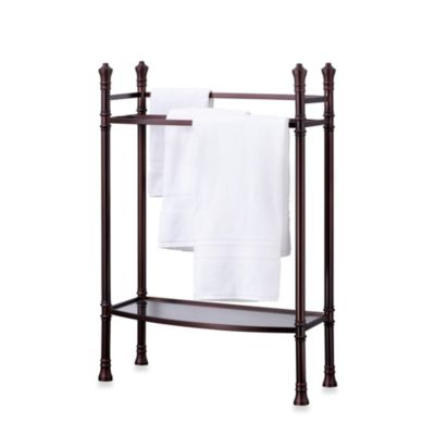 Monaco No Tools Towel Stand in Oil-Rubbed Bronze