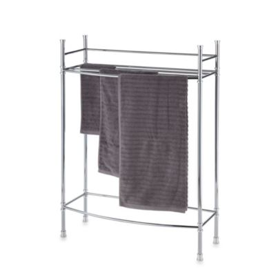 No Tools Towel Stand in Chrome