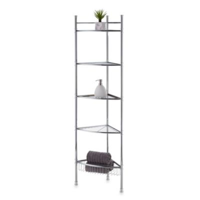 No Tools 5-Tier Corner Tower in Chrome