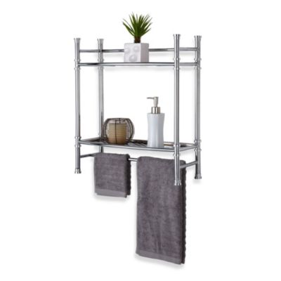 No Tools Bath Etagere in Chrome