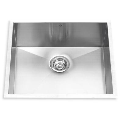 VIGO 23-Inch Single Bowl Stainless Steel Undermount Kitchen Sink