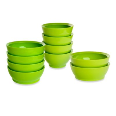 Calibowl 28-Ounce Bowls in Green (Set of 4)