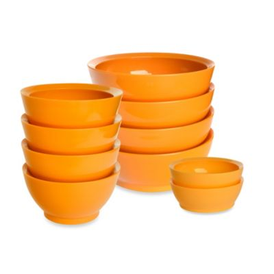 Calibowl® Orange Bowls Sets of 4