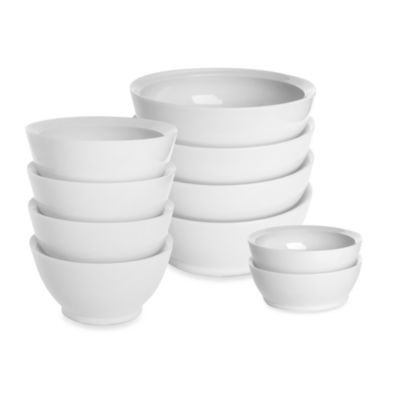 Calibowl 28-Ounce Bowls in White (Set of 4)