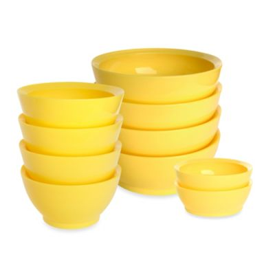 Calibowl 28-Ounce Bowls in Yellow (Set of 4)